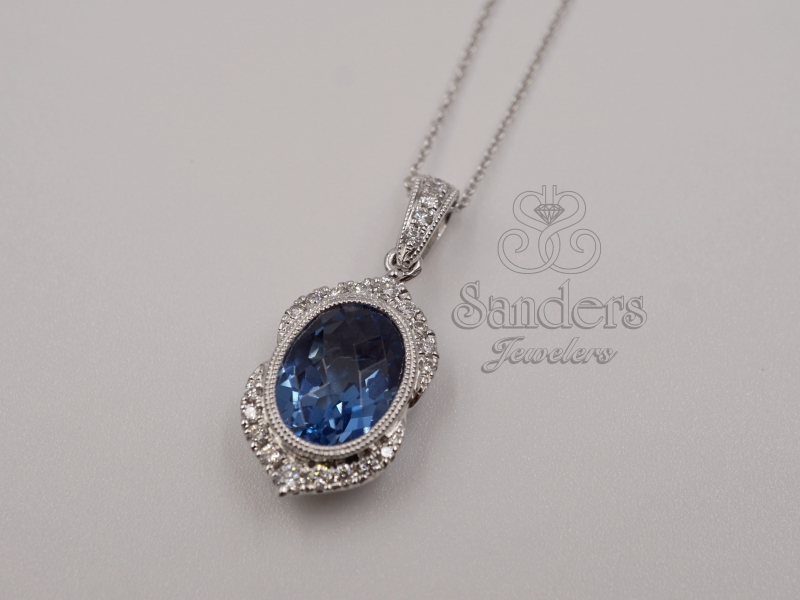 Pendants & Necklaces - London Blue Topaz Pendant - image #2