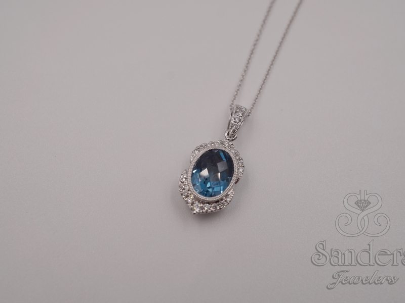 Pendants & Necklaces - London Blue Topaz Pendant - image #3