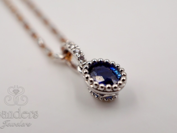 Pendants & Necklaces - Antique Inspired Sapphire Pendant