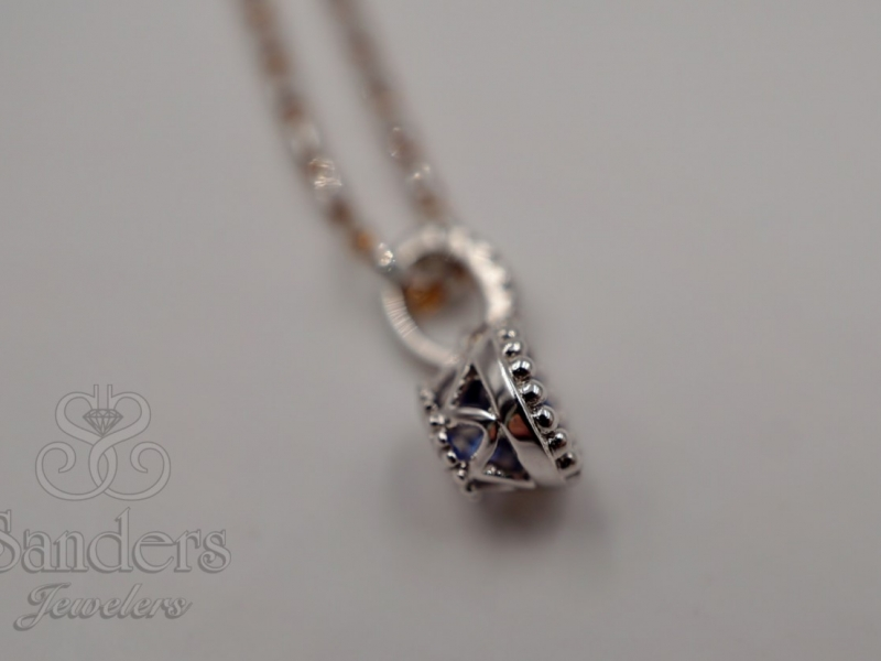 Pendants & Necklaces - Antique Inspired Sapphire Pendant - image 3