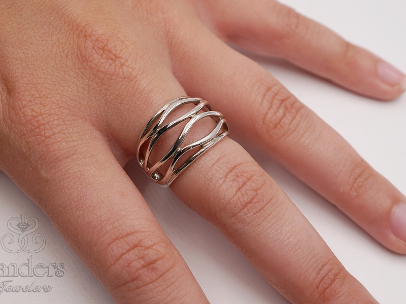 Rings - Wavy Wires Band - image 3