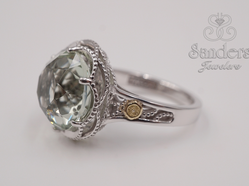 Rings - Green Amethyst Ring - image #2
