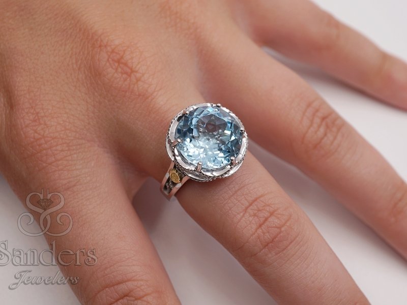 Rings - Blue Topaz Ring - image #3