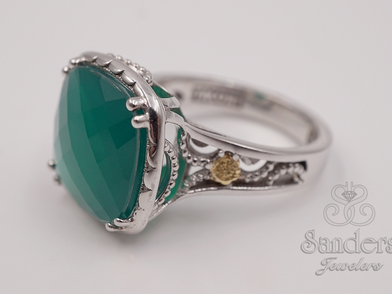 Rings - Green Onyx Ring - image #2