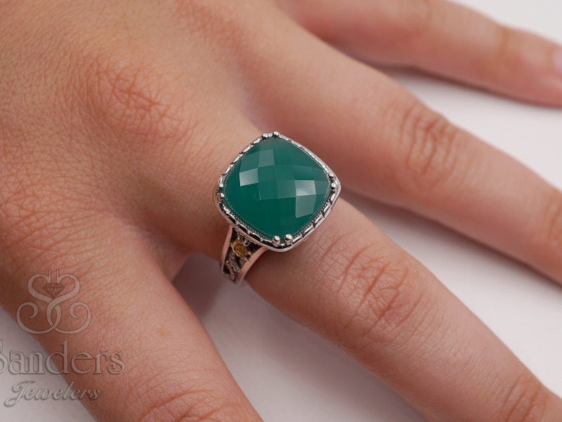 Rings - Green Onyx Ring - image #3