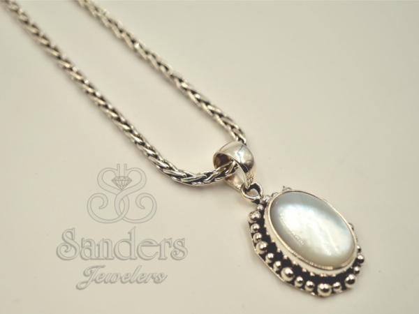 Sterling Silver - Mother of Pearl Pendant