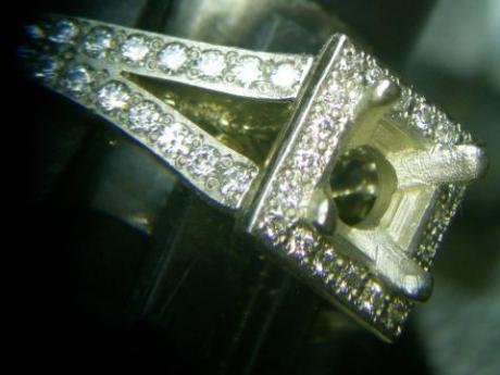 Sanders Jewelers Custom Designs - Princess Cut Diamond Ring - image #4