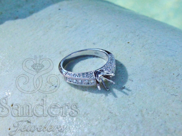 Bridal Jewelry - Bead and Bright Set Diamond Engagement Ring