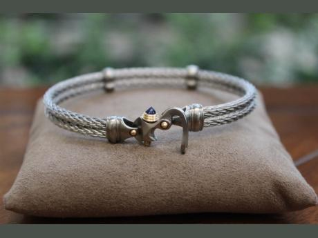 Men's - Men's Steel and 14K Bracelet - image #2
