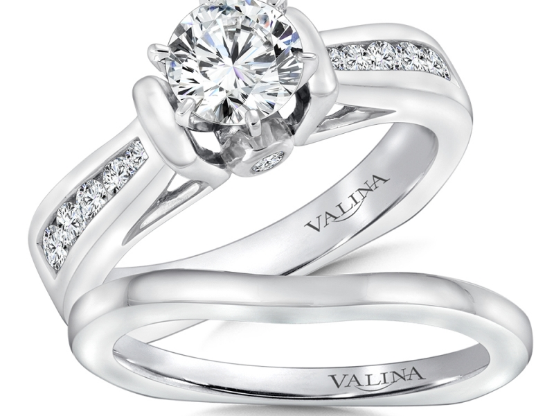 Bridal Jewelry - Tapering Channel Set Engagement Ring - image #3