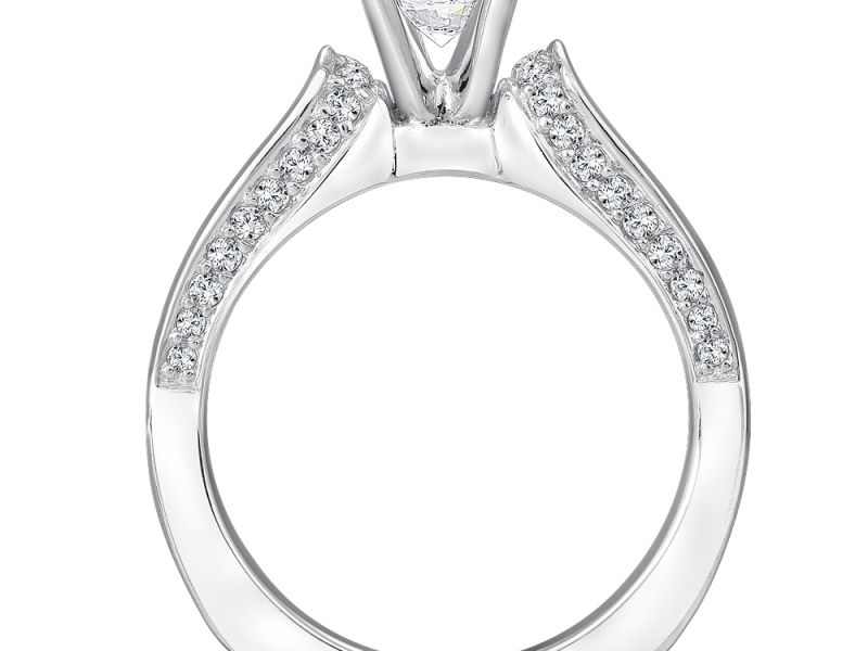 Bridal Jewelry - Solitaire Featuring Diamond Profile - image #2