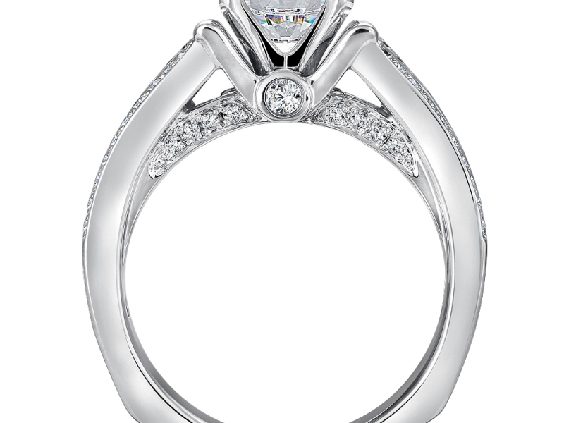 Bridal Jewelry - 3 Row Diamond Engagement Ring - image 2