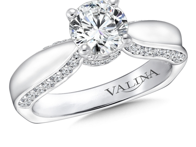 Bridal Jewelry - Solitaire with Diamond Profile - image #3