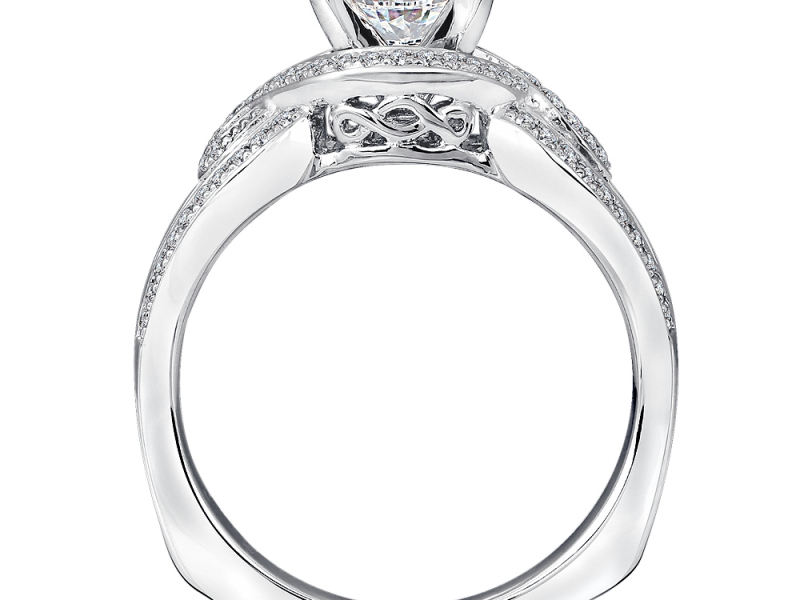 Bridal Jewelry - Twisting Diamond Engagement Ring - image #2