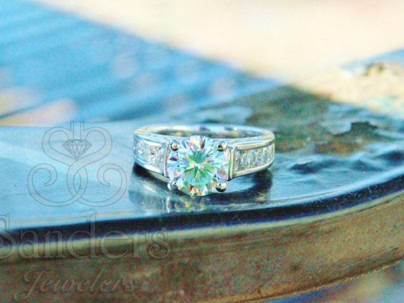 Bridal Jewelry - Channel Set Diamond Infinity Profile Engagement Ring - image #2