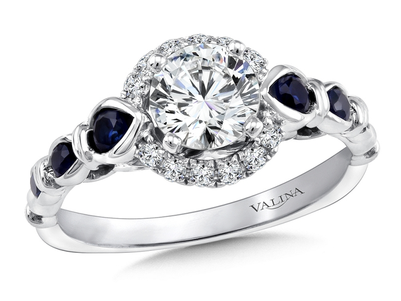 Bridal Jewelry - Vintage Designed Halo Engagement Ring - image #3