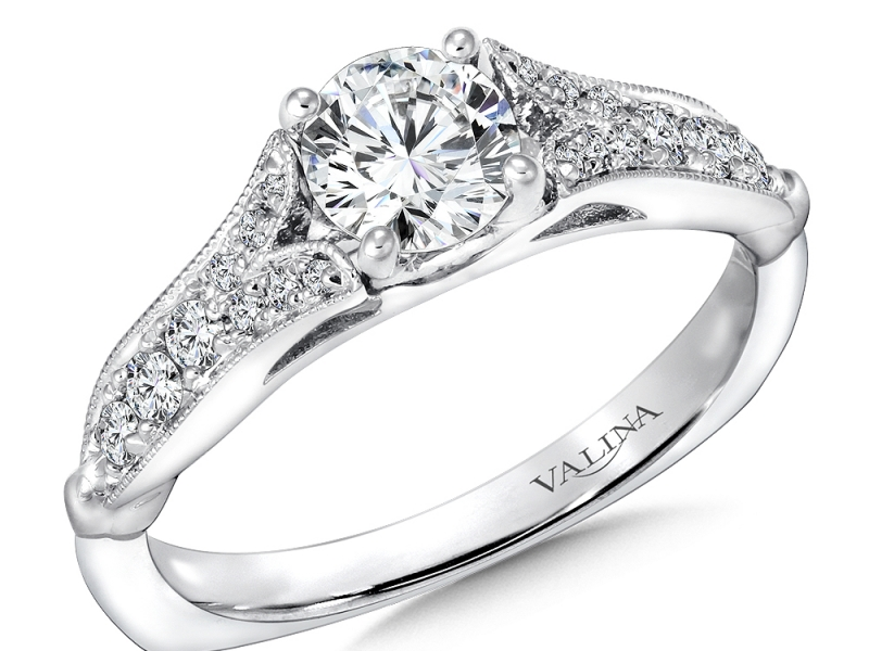 Bridal Jewelry - Vintage Inspired Split Shank Engagement Ring - image 2