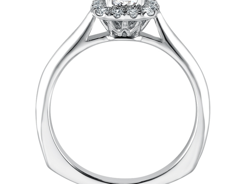 Bridal Jewelry - Cushion Halo Engagement Ring - image 2