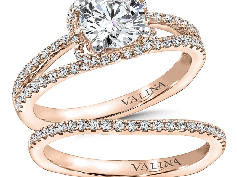 Bridal Jewelry - Split Shank Diamond Engagement Ring - image #3