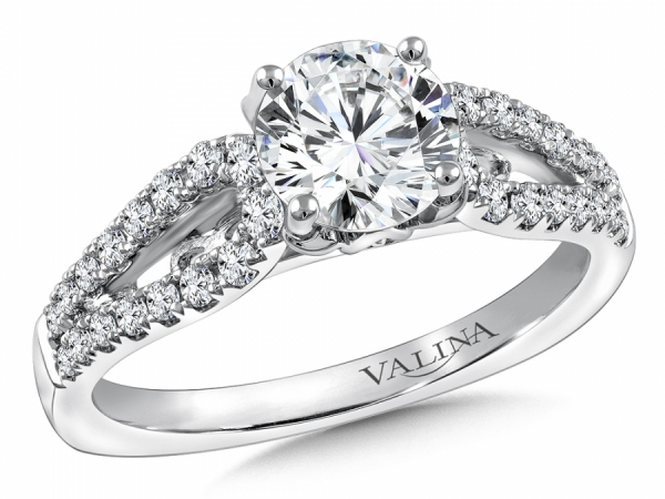 Bridal Jewelry - Split Shank Diamond Engagement Ring