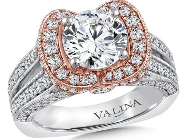 Bridal Jewelry - Two-Tone Diamond Engagement Ring