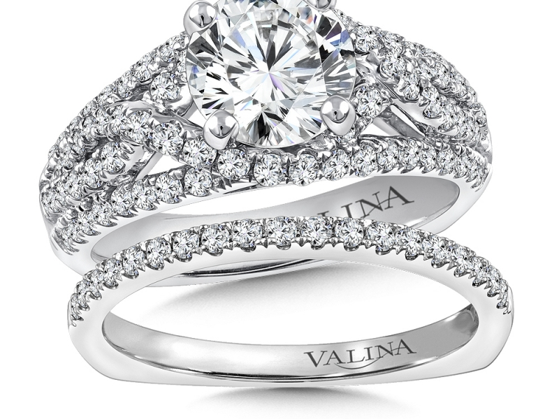 Bridal Jewelry - Pave Diamond Engagement Ring - image 3
