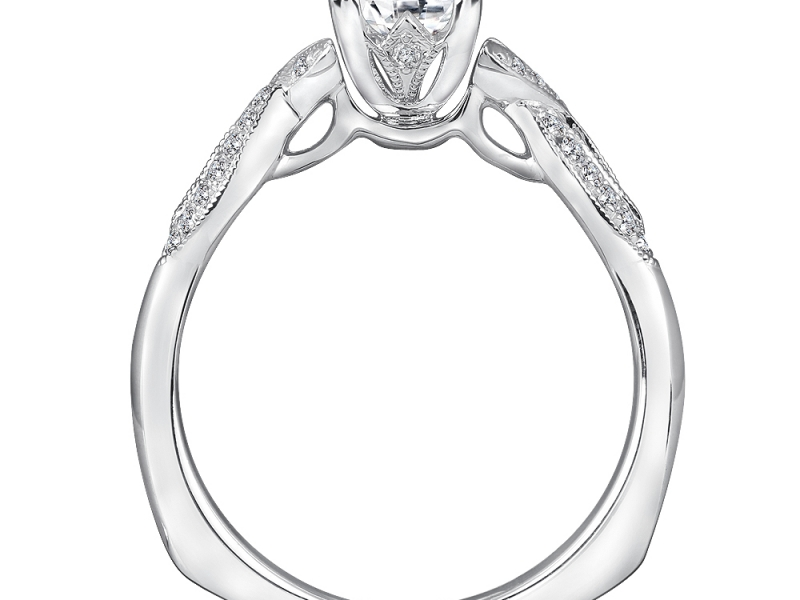 Bridal Jewelry - Twisting Princess Cut Engagement Ring - image 2