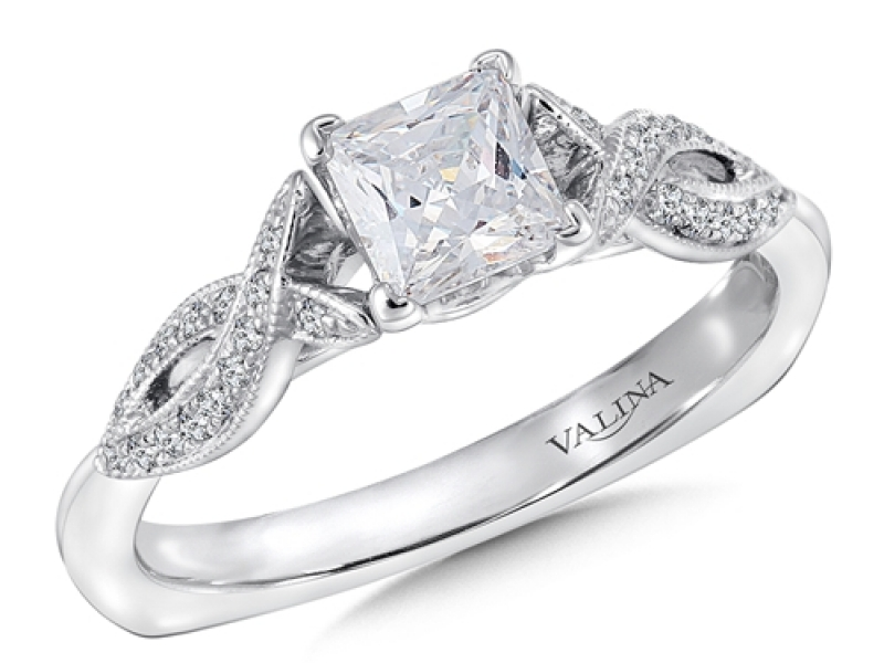 Bridal Jewelry - Twisting Princess Cut Engagement Ring - image 3