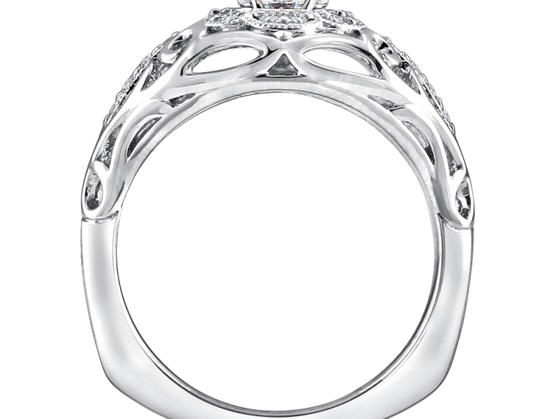 Bridal Jewelry - Diamond Accented Ring - image #2
