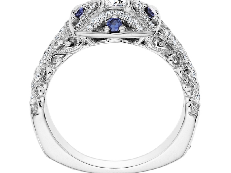 Bridal Jewelry - Art Deco Inspired Ring - image #2