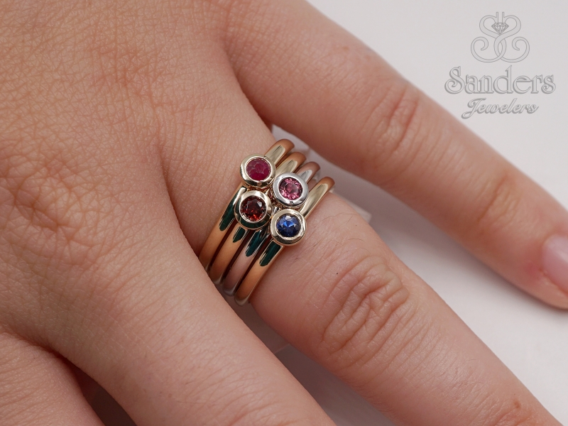 Rings - Tourmaline Stacker Ring - image #3