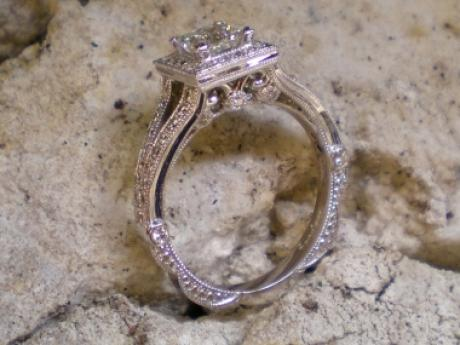 Sanders Jewelers Custom Designs - Princess Cut Diamond Ring
