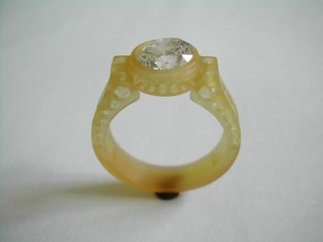 Sanders Jewelers Custom Designs - Bezel Set Diamond Ring - image #2