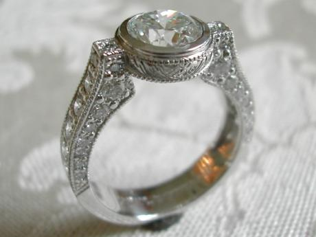 Sanders Jewelers Custom Designs - Bezel Set Diamond Ring