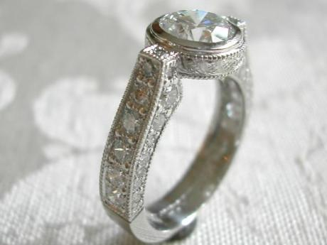 Sanders Jewelers Custom Designs - Bezel Set Diamond Ring - image #3