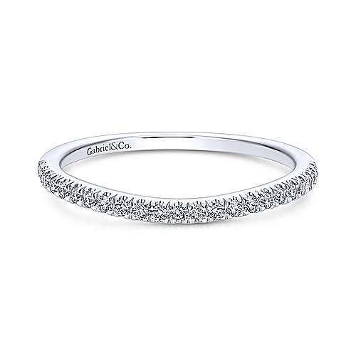 Wedding Band - 14K White Gold Diamond Wedding Band
