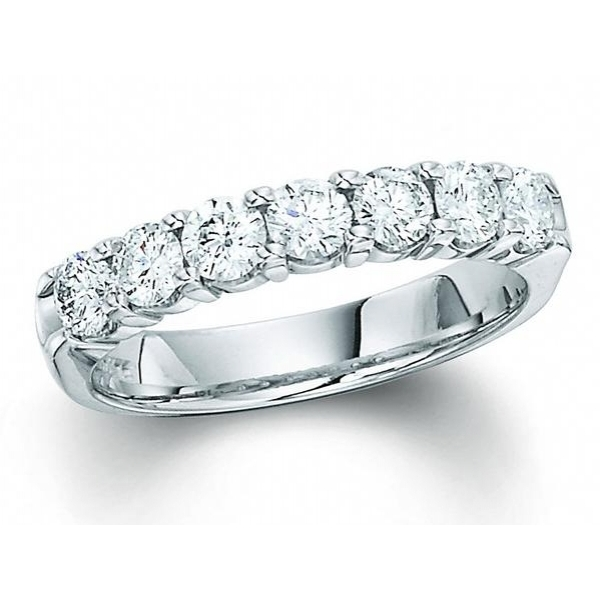 Wedding Band - 14K WG 1 TCW DIAMOND WEDDING BAND