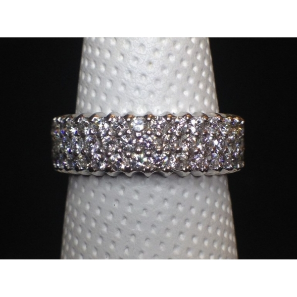 Wedding Band - .97 CARAT TW 3 ROW BAND14K WHITE GOLD