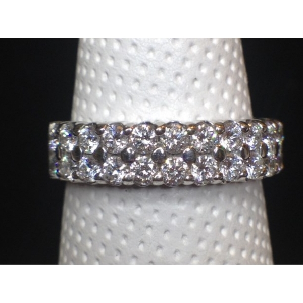 Wedding Band - .95 CARAT TOTALWEIGHT 2 ROW BAND 14K WHITE