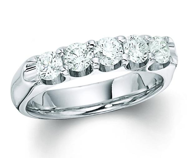 Anniversary Ring - 14K WG .75TCW DIAMOND BAND