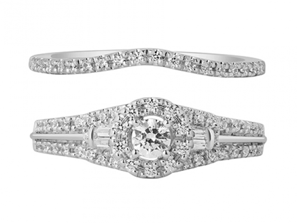 Anniversary Rings - 10kw .11ctw Diamond Band  (Band Only)