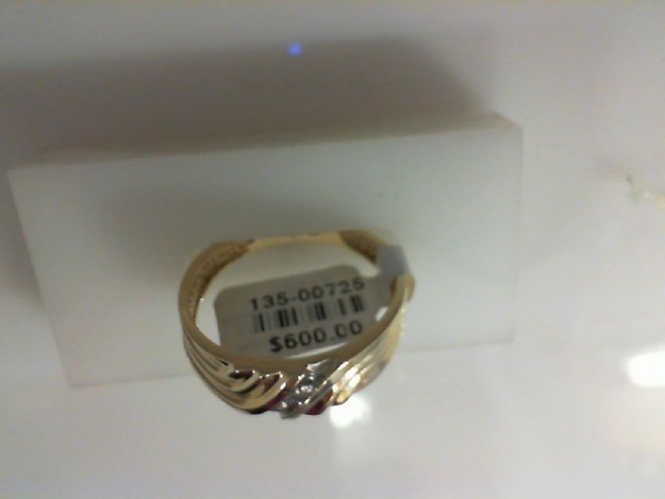 Gents Ring - 10KY .05ctw gents 7mm dia band