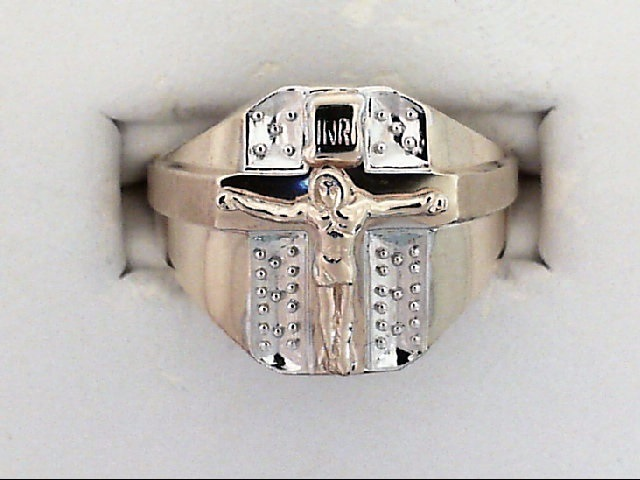 Gents Ring - 10KY gents crucifix ring