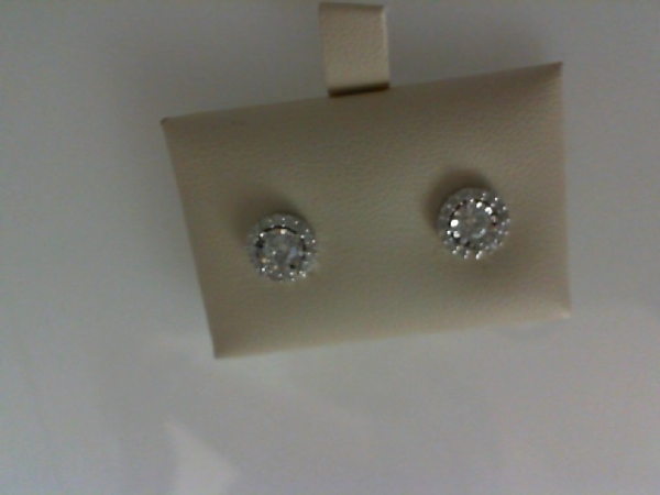 Diamond Earrings - 14kw .51ctw Round Illusion with Halo