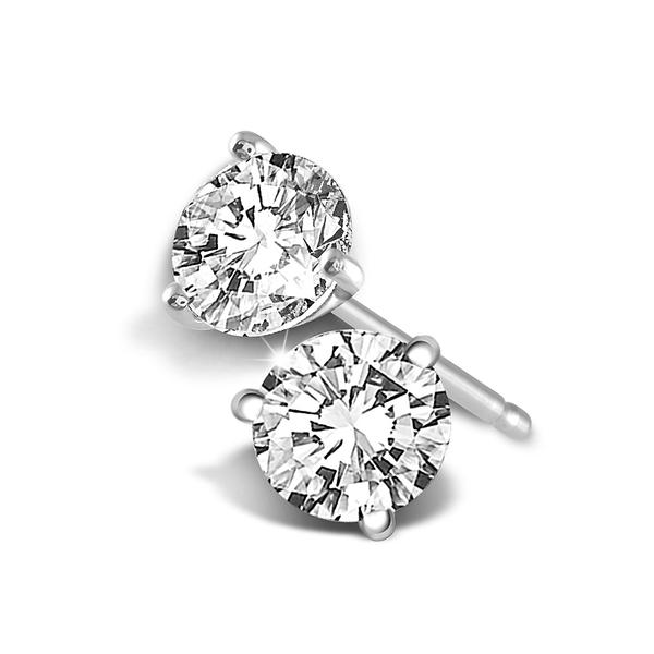 Diamond Earrings - 14kw .10ctw ear solitaires