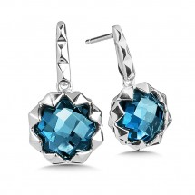 Earrings - SS London Blue Topaz Earrings