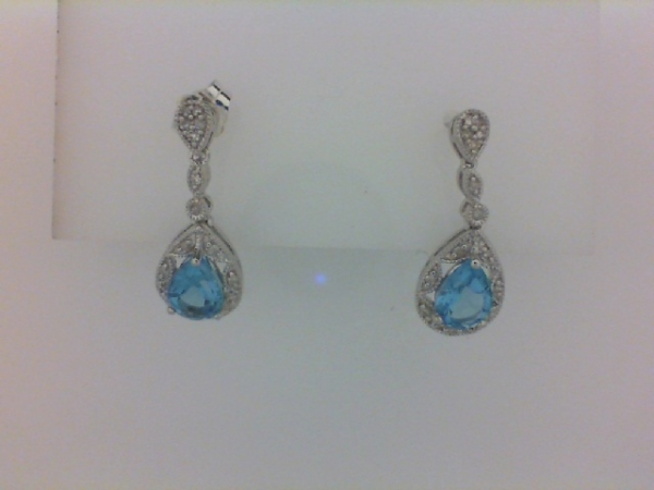 Earrings - Ss Blue Topaz Earrings