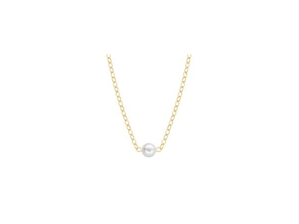 Pearls - 14Ky 5mm  Add-A-Pearl starter Necklace