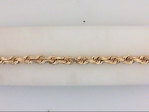 Gold Bracelet - 14KY 4mm DC rope brac