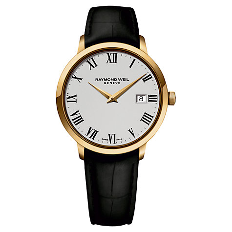 Watch - Gents Toccata White Face Black Leather Band